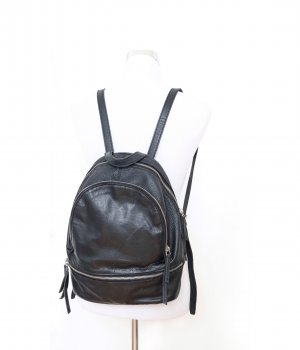 Liebeskind School Backpack black-silver-colored leather