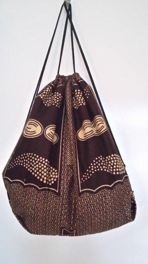 Mochila marrón oscuro-marrón arena Algodón