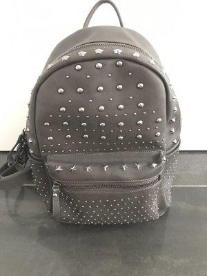 School Backpack grey brown