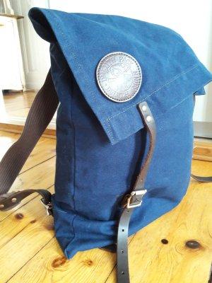 Rucksack Original Duluth Pack aus den USA, groß, Blau, Leder