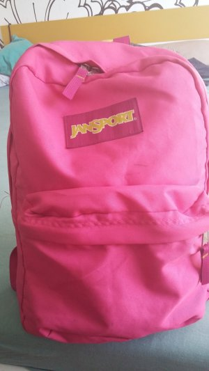 Backpack neon red-magenta textile fiber
