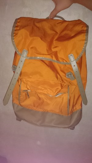 RUCKSACK | Retro | Old school | Vintage | orange | 80er | 90er