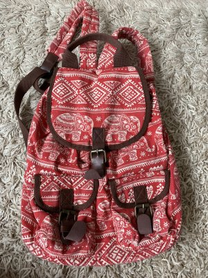 School Backpack red-white