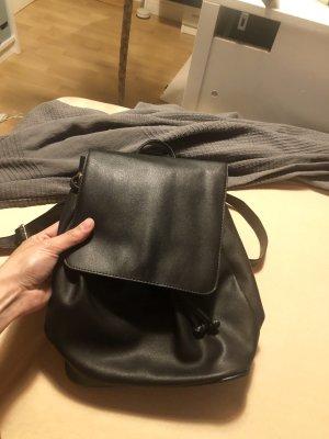 Bershka Backpack black-silver-colored