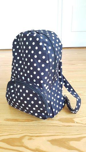 School Backpack white-black