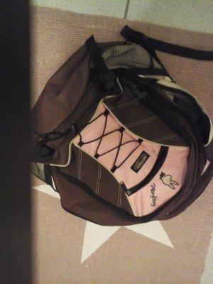 Rucksack stylisch in braun / rosa