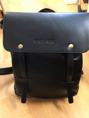 Backpack black synthetic fibre
