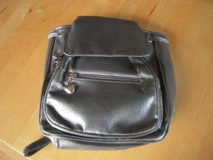 Rucksack / Tasche Textil silberfarbig