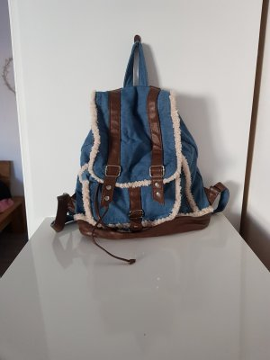 Claires Backpack white-blue