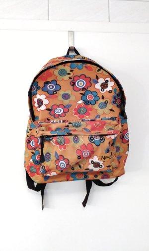 School Backpack black-orange