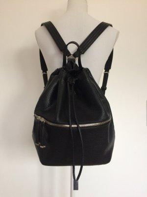 Rucksack Zara schwarz Lederlook Leder