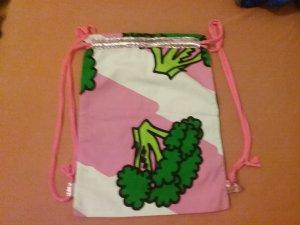 Borsellino rosa-verde Cotone