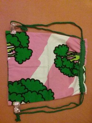 Bolso tipo marsupio rosa-verde Algodón