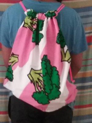 Bolso tipo marsupio rosa-verde hierba