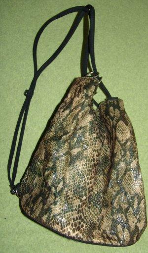 Rucksacktasche Beuteltasche mit Schlangenoptik