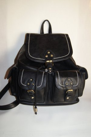 New Look Backpack black-gold-colored