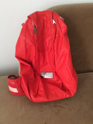 Adidas by Stella McCartney Trekking Backpack bright red nylon