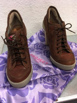 Ruco Line Heel Sneakers bronze-colored leather