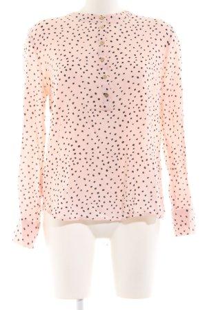 Rue de Femme Schlupf-Bluse pink-schwarz Allover-Druck Elegant