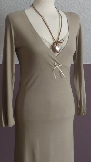 Empire Dress cream-sand brown