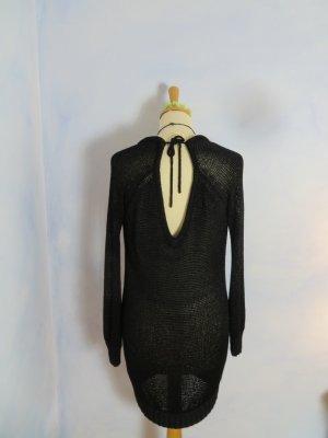 Rückenausschnitt Pepe Jeans London Pullover Kleid Gr. M Longpullover Grobstrick