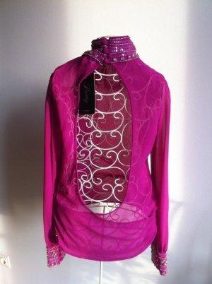 Rückenfreie Bluse mit Verzierung