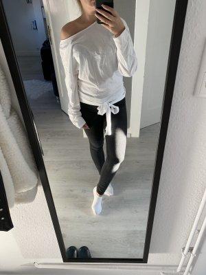 Zara Top básico negro-blanco