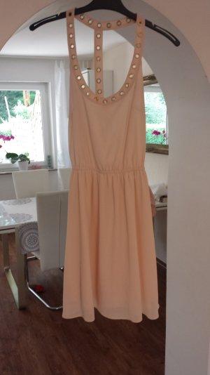 Rückenfreies Kleid Cremefarben