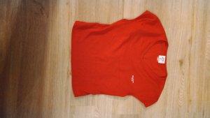 rückenfreies kurzes rotes Miss Sixty Shirt