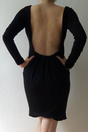 Zara Robe courte noir polyester