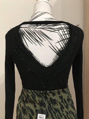 Rückenfreies Shirt mit Spitze