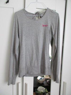 Bench Suéter gris claro-rosa