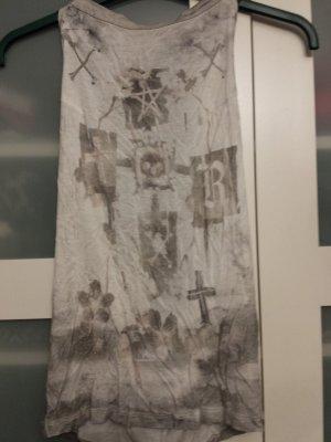 Religion Haut dos-nu blanc-gris clair