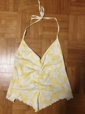 Backless Top white-yellow