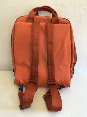 Lacoste Laptop Backpack orange-forest green nylon