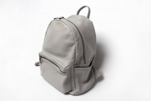 Borse in Pelle Italy Trekking Backpack silver-colored leather