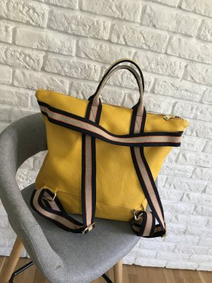 Borse in Pelle Italy Laptop Backpack dark yellow