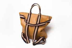 Borse in Pelle Italy Laptop Backpack sand brown leather