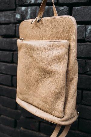 Rücksack Umhängetasche 3 in1 beige neu Borse in Pelle Leder