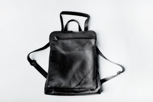 Borse in Pelle Italy Trekking Backpack black leather
