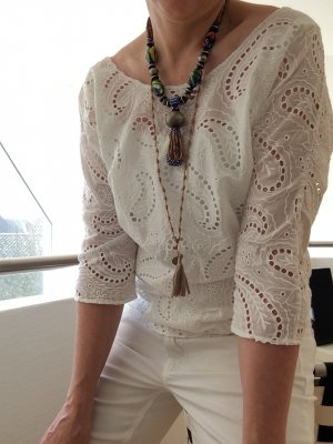 Maison Scotch Lace Top white cotton