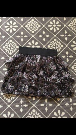 Rüschchen Minirock mit Blumenmuster