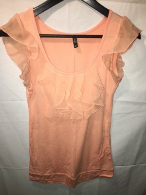 Ann Christine Frill Top salmon-apricot