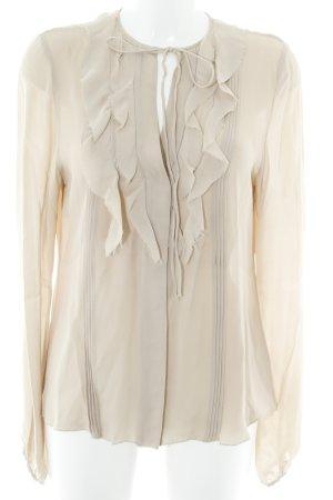 Ruche blouse room-beige elegant