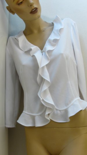 Together Blouse à volants blanc polyester