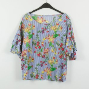 Blouse à volants multicolore
