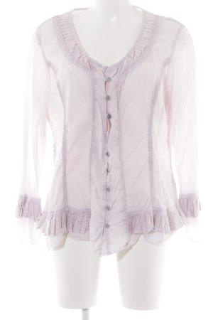 Rüschen-Bluse hellrosa Romantik-Look