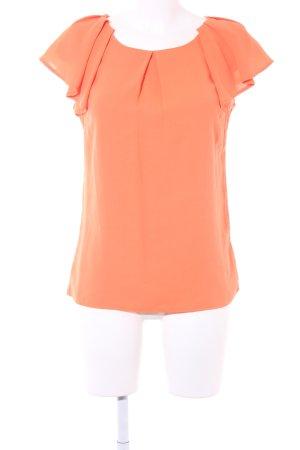 Ruche blouse neonoranje casual uitstraling