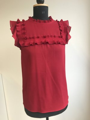 Pinko Ruche blouse rood Polyester
