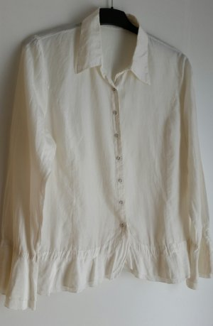 One Touch Ruffled Blouse natural white